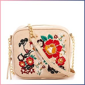 Handbags - Colorful Embroidered Pattern Crossbody